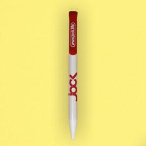 stylo bille blanc et rouge jock